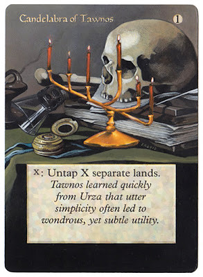 Candelabra of Tawnos Eric Klug altered art Magic the gatrhering card art repair alter