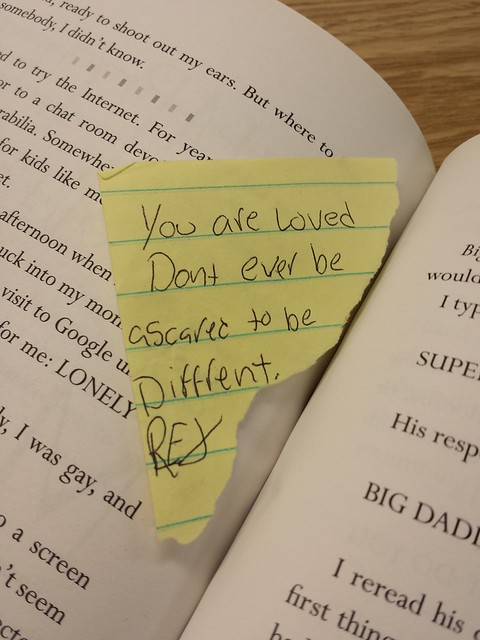 Absolutely Positively Not - Note found in the library book