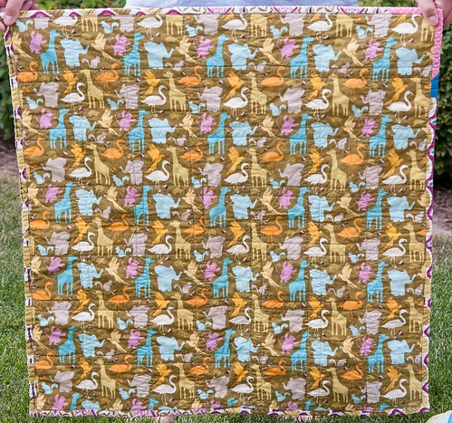 Central Park Baby Quilt Back