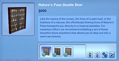 Nature's Pass Double Doors