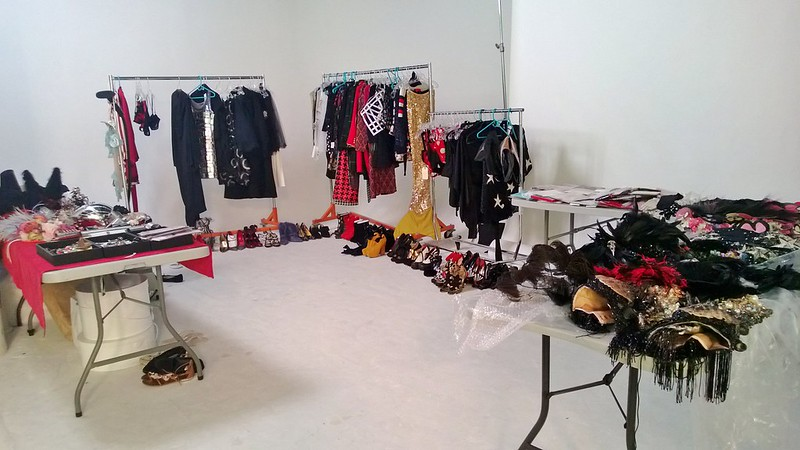 Clothing on set.