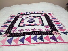 quilt, art, textile, patchwork, purple, linens, quilting, craft,