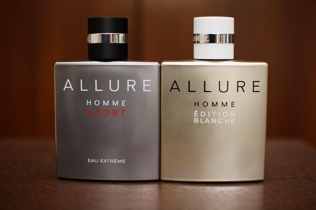 """""""CHANEL Allure Homme Édition Blanche"""" et """"Allure Homme Sport Eau Extrême"""""""