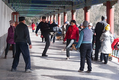Locals playing Jianzi at Temple of Heavenly