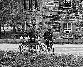 Pierce Mill & Bicycle, Motorcycle (detail)