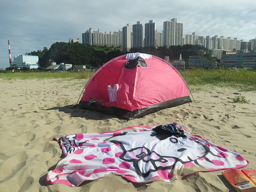 Our camp on Dadaepo Beach