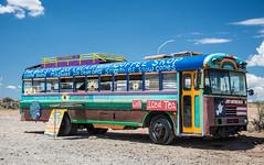 The bus at Rio Grande Gorge