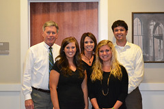President LaForge and his office staff wish Ashley Neal good luck, as she goes on to law school