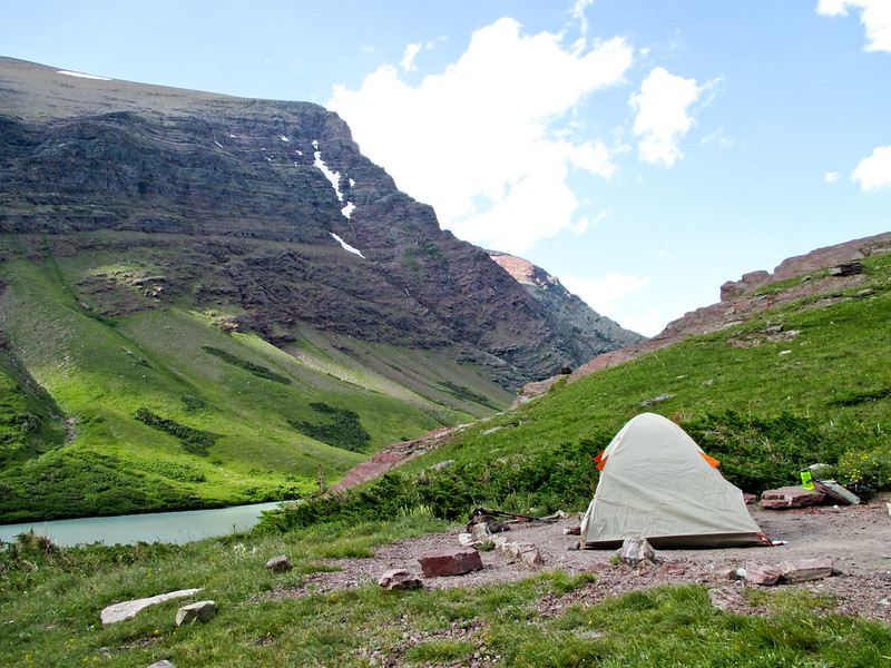 Tent at Cracker Lake