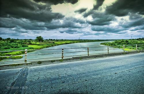 bridge panorama reflection water clouds river landscape tone cloudscape mapped canon600d