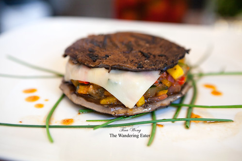 "Grilled portabello ""burger"" by Chef Burke"