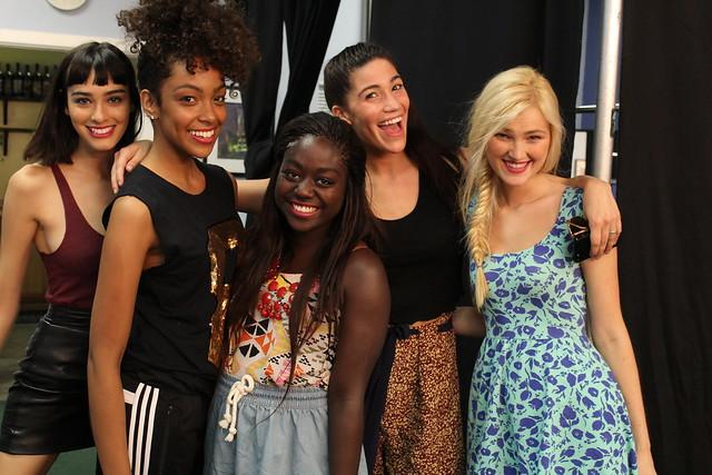 Adidas Neo fall campaign shoot Chloe Blanchard Margaux Brooke Kalysse Anthony Alexa Reynen Lois Opoku Los Angeles lisforlois