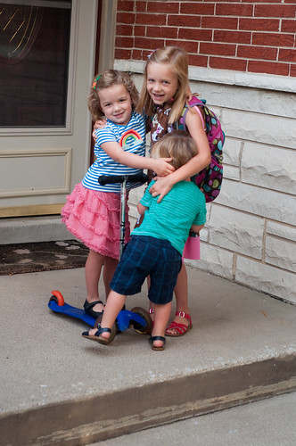 DSC_Georgia's first day of kindergarten at Puffer
