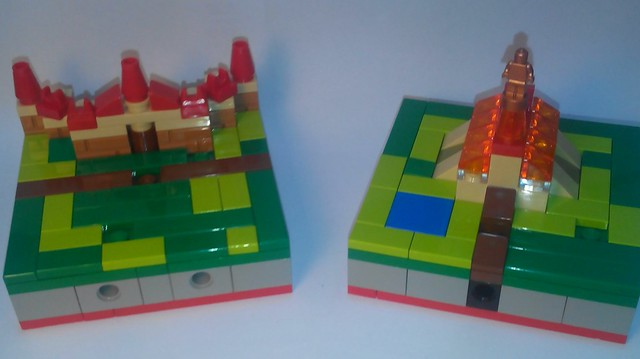 Tuiles Carcassonne en Lego