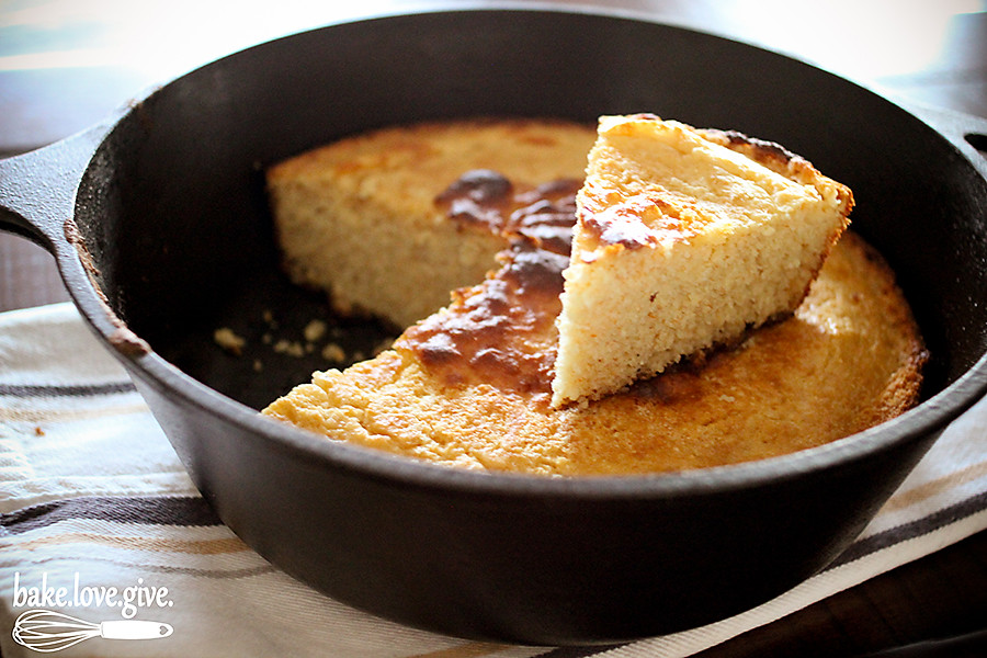 Buttermilk Skillet Cornbread | Bake Love Give