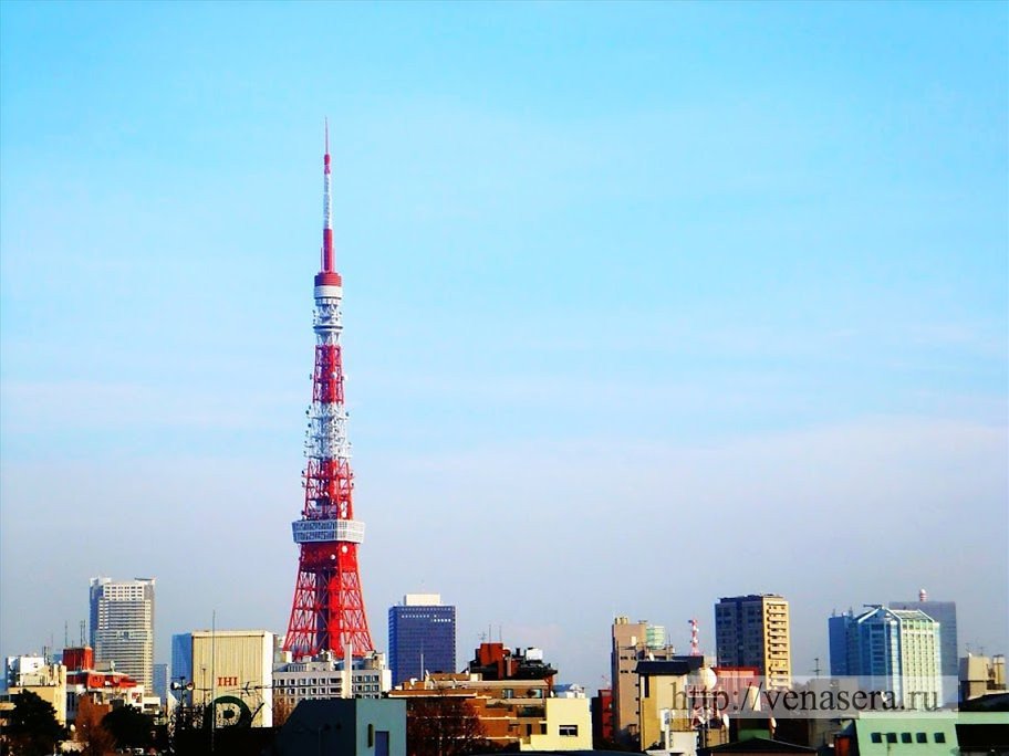 Токийская башня из Roppongi Hills