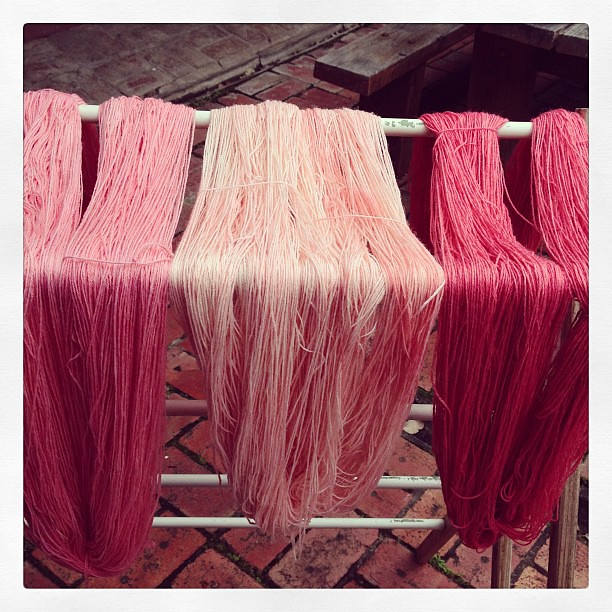 A spot of yarn dyeing on a sunny Spring Sunday
