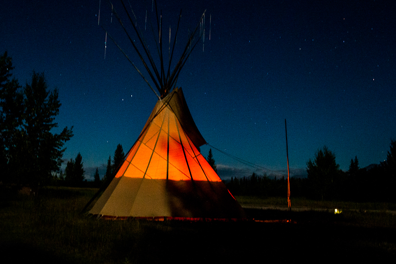 A teepee in Polebridge, Montana // the year in food