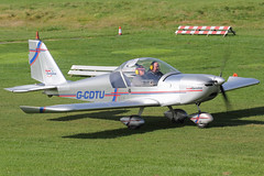 G-CDTU - 2005 build Aerotechnik EV-97 Eurostar, visiting Barton