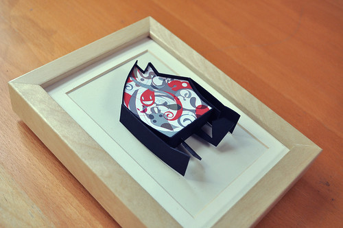 #papertoy - ink robot project 02 - framed