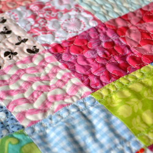 flower free motion quilting