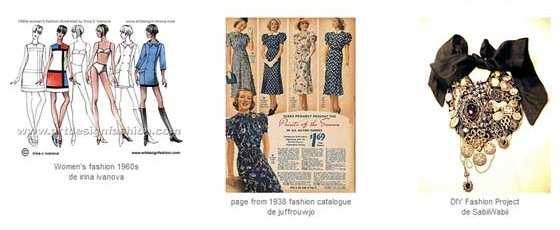 diseño de catálogos de ropa retro