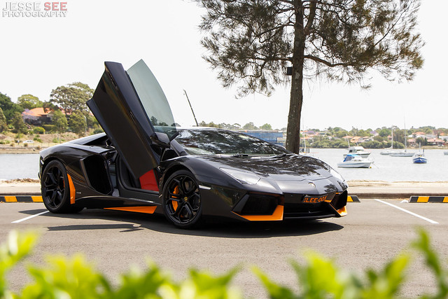 Lamborghini Aventador Black & Orange | Flickr - Photo Sharing!