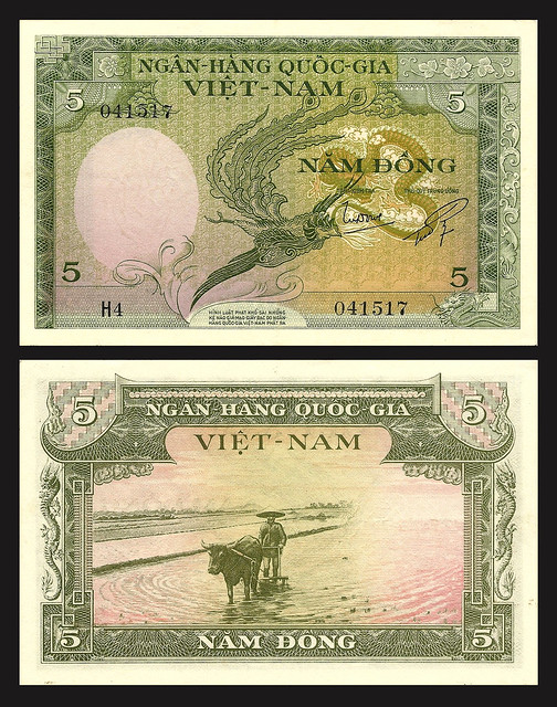 1955 South Vietnam 5 Dong