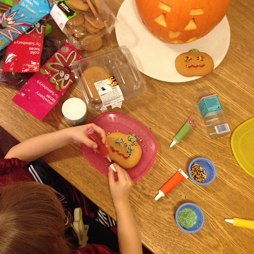 Halloween biscuit decorating by PhotoPuddle