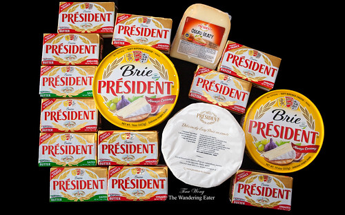 President Imported Butters (Salted & Unsalted), Brie and Ossau-Iraty Cheeses