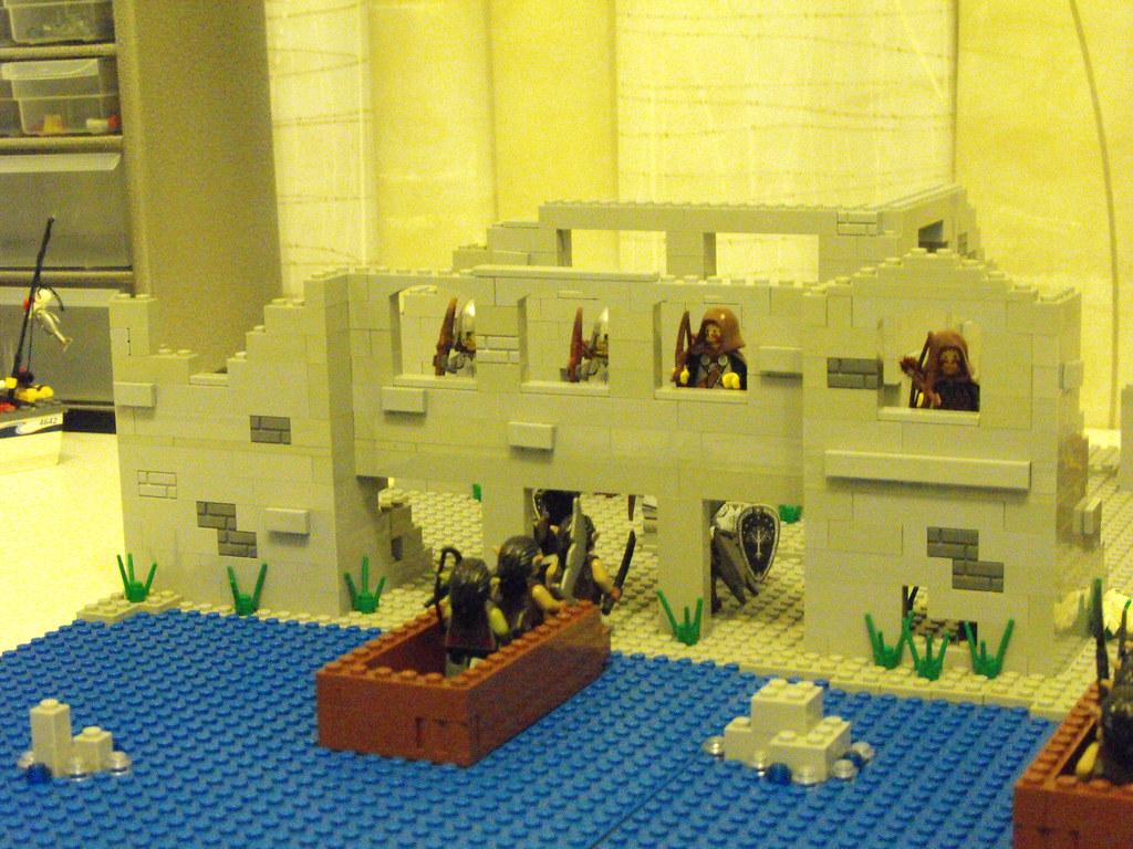 Lego Lord Of The Rings Osgiliath Moc Version 2 Lego Osgili Flickr