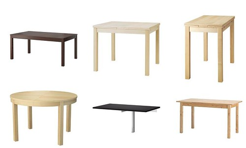 IKEA dining table collection