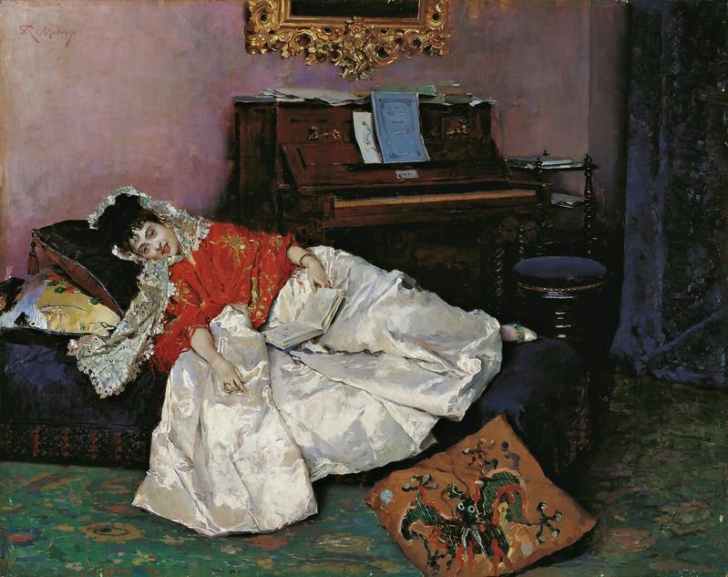 Raimundo Madrazo - La lectura (c.1880)