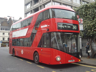 Metroline LT96 on Route 390, Notting Hill Gate