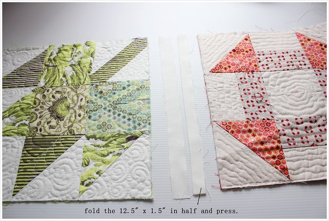 Cutting strips - folding 2