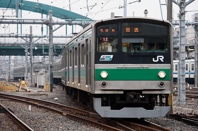 埼京線205系カワ12編成 インドネシアKCJ譲渡回送 回9856M