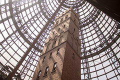 Tower and cone in Melbourne Central