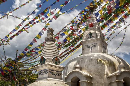 nepal stupa postcard newyear kathmandu greetings happynewyear swayambhu 2014 stupas