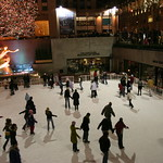 Skating in Rockefeller Center