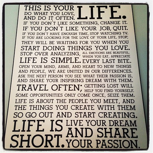 #fmsphotoaday January 4 - Words to live by. #holsteemanifesto