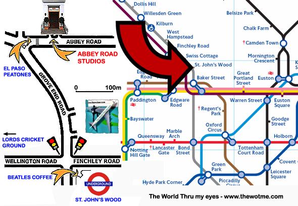 Plano de cómo llegar a la famosa calle Abbey Rd abbey road - 11757163556 0133415f50 o - Abbey Road de Londres, el paso de peatones más famoso