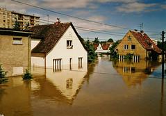 Opole - flood in July 1997.