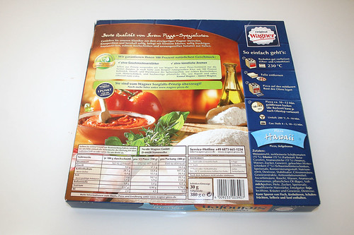 02 - Pizza Hawaii (Wagner Steinofen)  - Box hinten / Box back