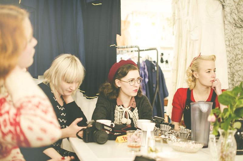 Bloggfika på vintagefabriken