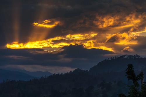 sunset wolken landschaft lavega jarabacoa karibik dominikanischerepublik nordamerika cordilleracentral