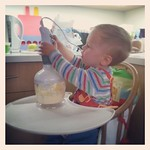 George making his first crumble :-)