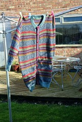 Machine Knitted Fair Isle Cardigan