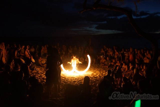 fire-spinners 0005 Little Beach, Maui, Hawaii, USA