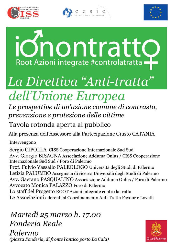 """La Direttiva """"Anti-tratta"""" dell'Unione Europea"""