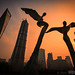 Pudong Skyline with Angels by alpenbild.de